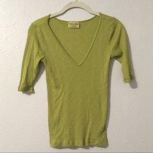 Michael Stars Short Sleeve Green Shirt